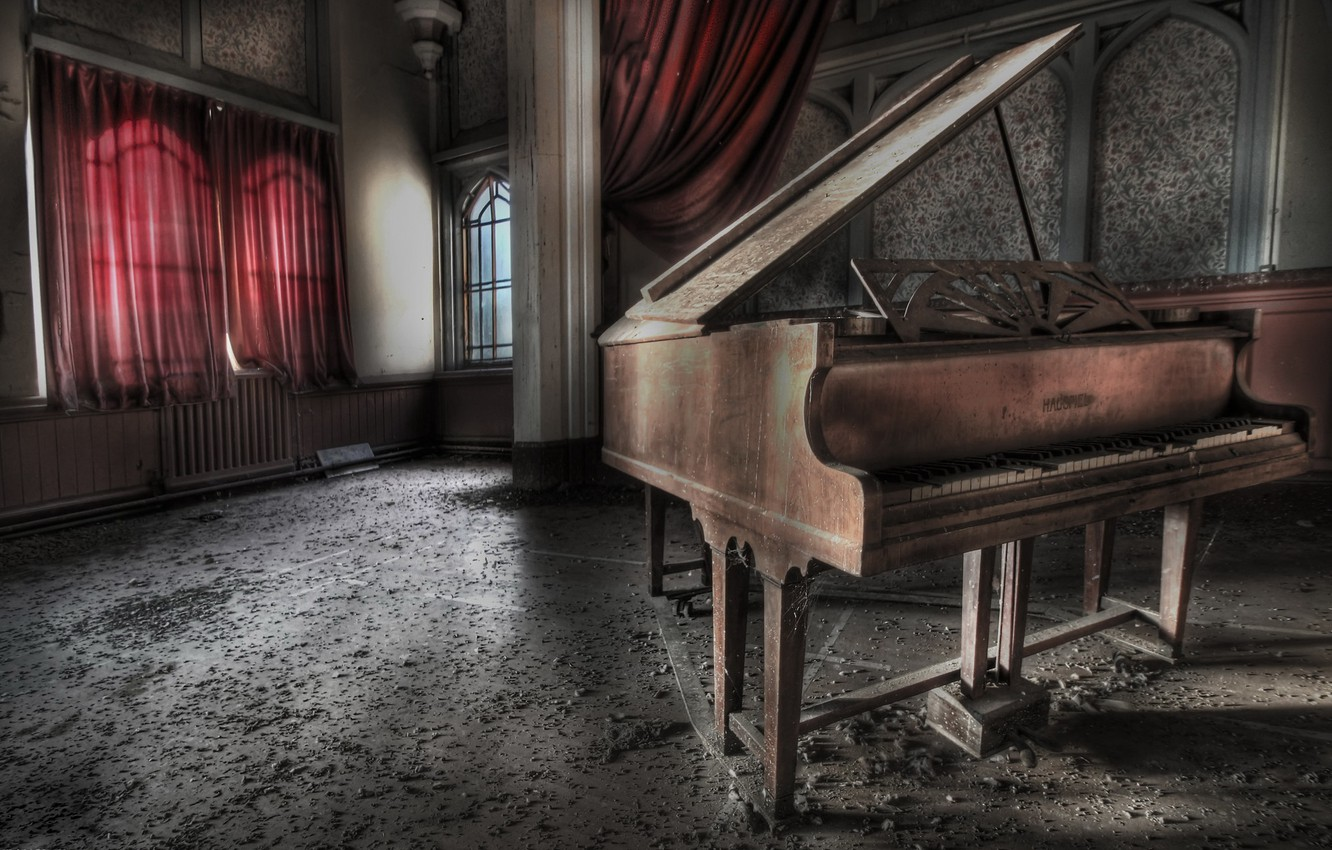 Photo wallpaper music, room, piano