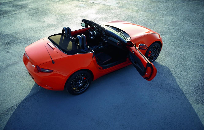 Photo wallpaper orange, the door, Mazda, Roadster, MX-5, 30th Anniversary Edition, 2019