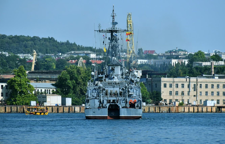 Photo wallpaper sea, feed, Sevastopol, minesweeper, Zheleznyakov