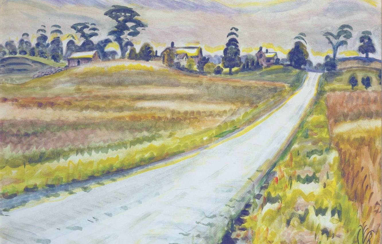 Photo wallpaper Charles Ephraim Burchfield, 1943-45, The Shining Road