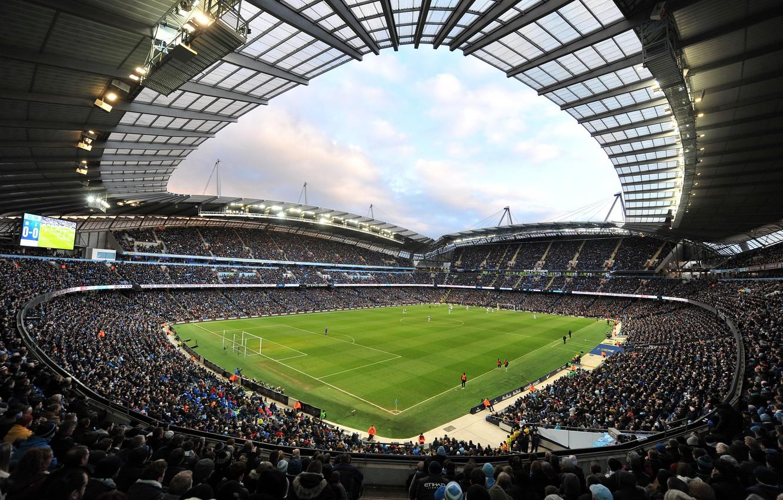 Photo wallpaper football, stadium, Manchester City, Manchester City, Etihad Stadium, Etihad