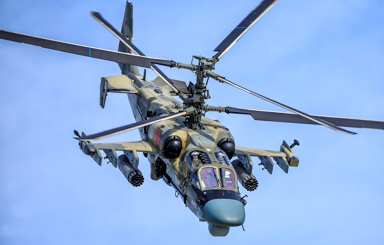"""Photo wallpaper Videoconferencing Russia, Ka-52, reconnaissance and attack helicopter, Ka-52 """"Alligator"""""""