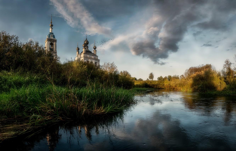 Photo wallpaper nature, temple, Russia, Savinskoye, Yaroslavskaya Oblast'