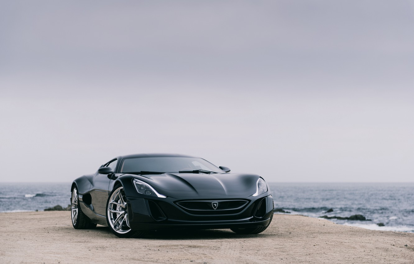 Photo wallpaper Black, Supercar, Rimac, Electric