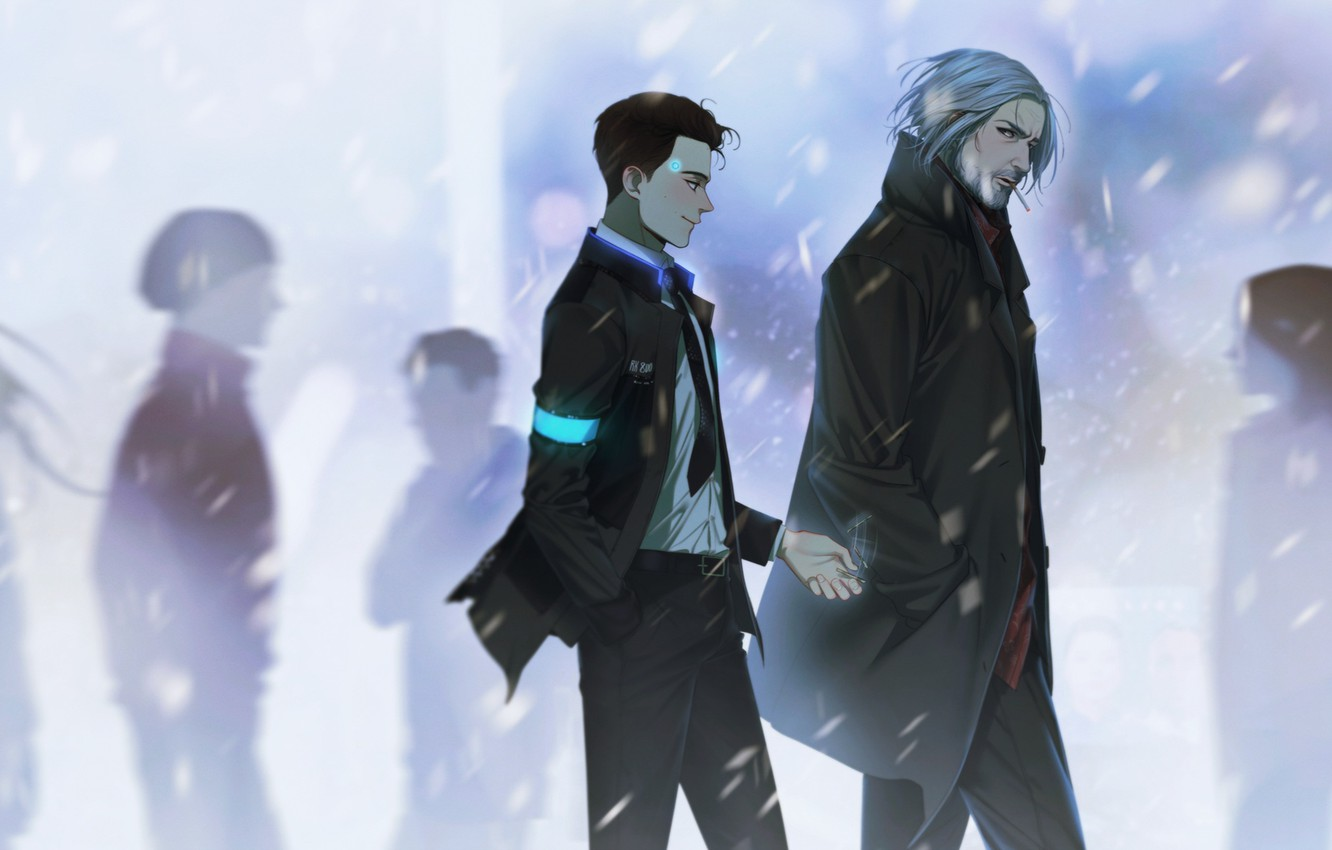 Wallpaper Street Guys Cigarette Detroit Become Human Images For
