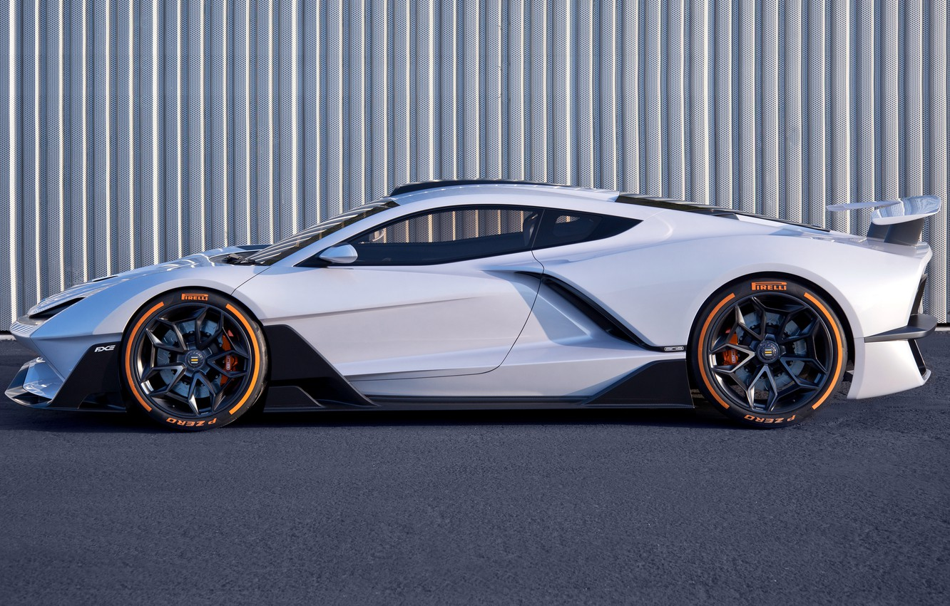 Photo wallpaper supercar, side view, Aria, hypercar, 2019, FXE