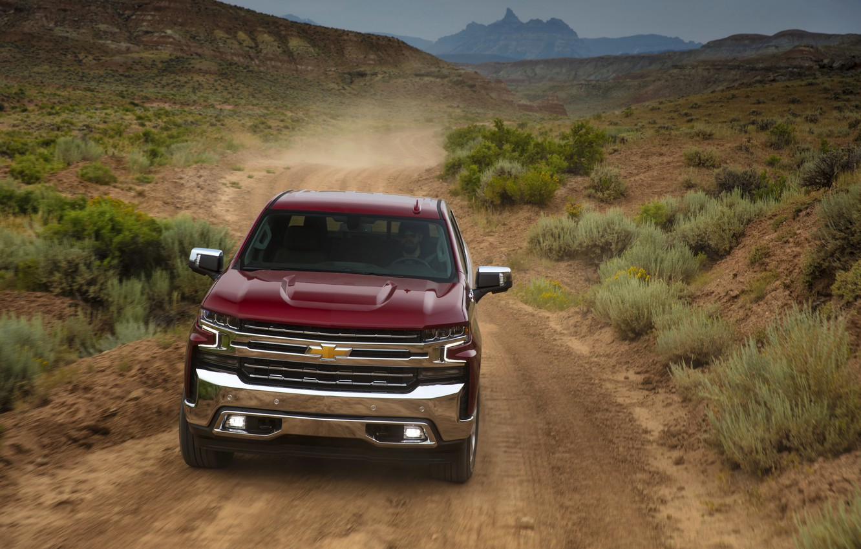 Photo wallpaper dust, Chevrolet, pickup, primer, LTZ, Silverado, Z71, 2019