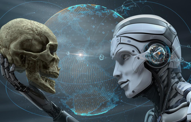 Photo wallpaper sake, cyborg, futuristic, human android