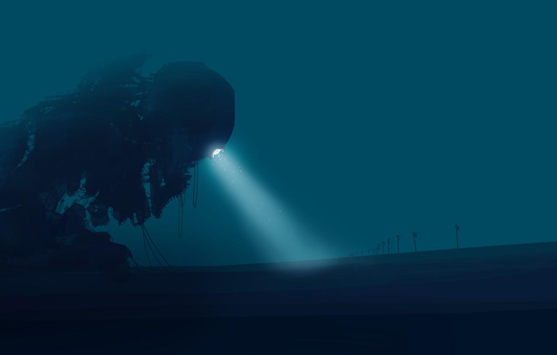 Photo wallpaper monster, alien, postapokalipsis