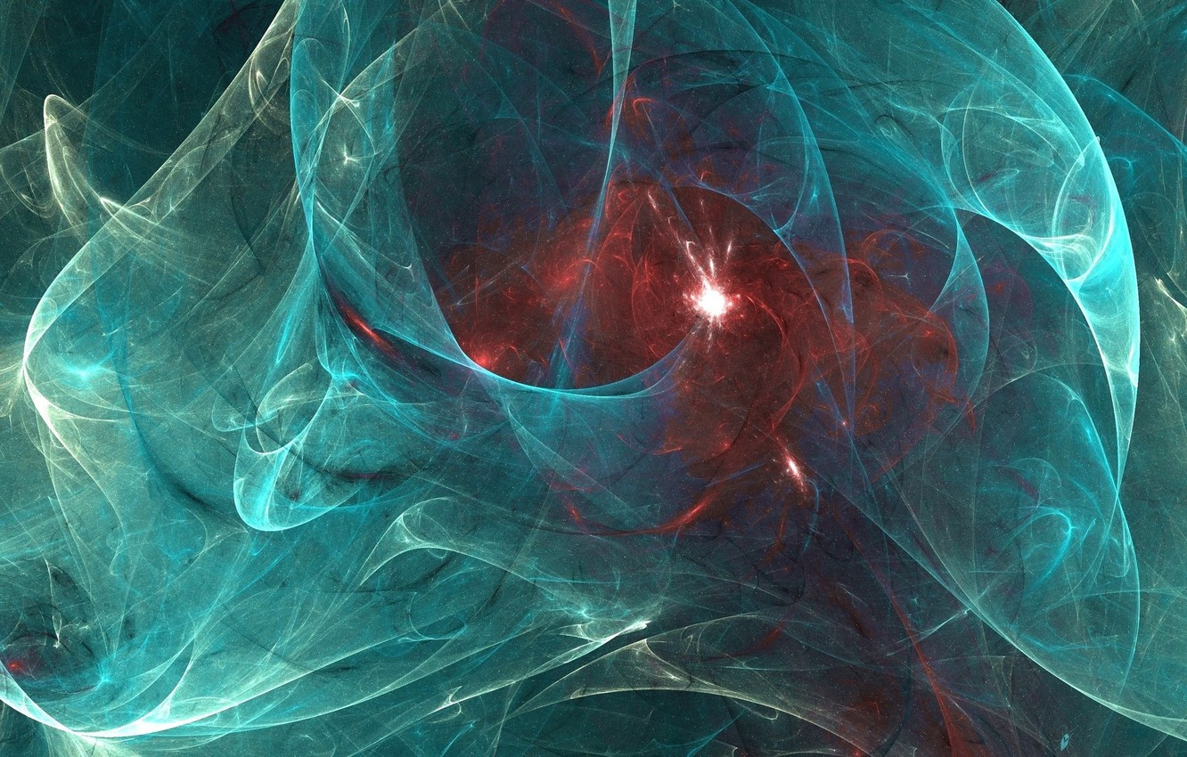 Photo wallpaper space, light, abstraction, flash, the distortion of space, the birth of a star