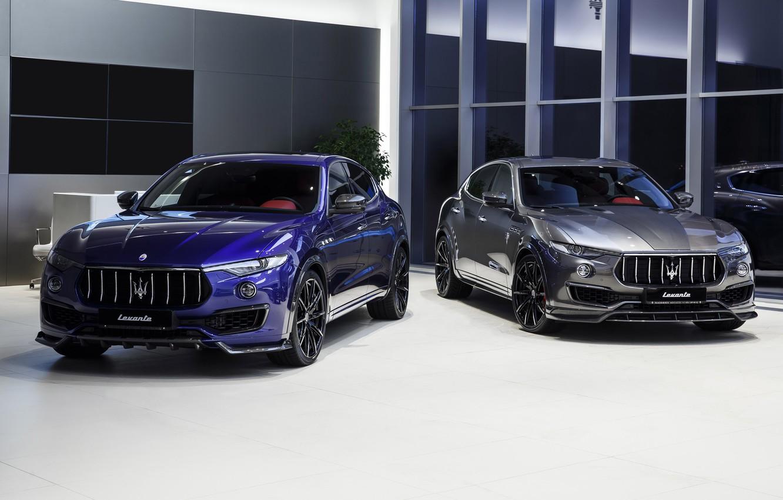 Photo wallpaper Maserati, pair, crossover, Larte Design, 2017, Levante