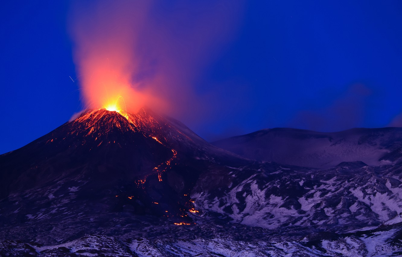 Photo wallpaper the volcano, the eruption, Italy, lava, Italy, Etna, Etna, Sicily, Sicily, январь 2021