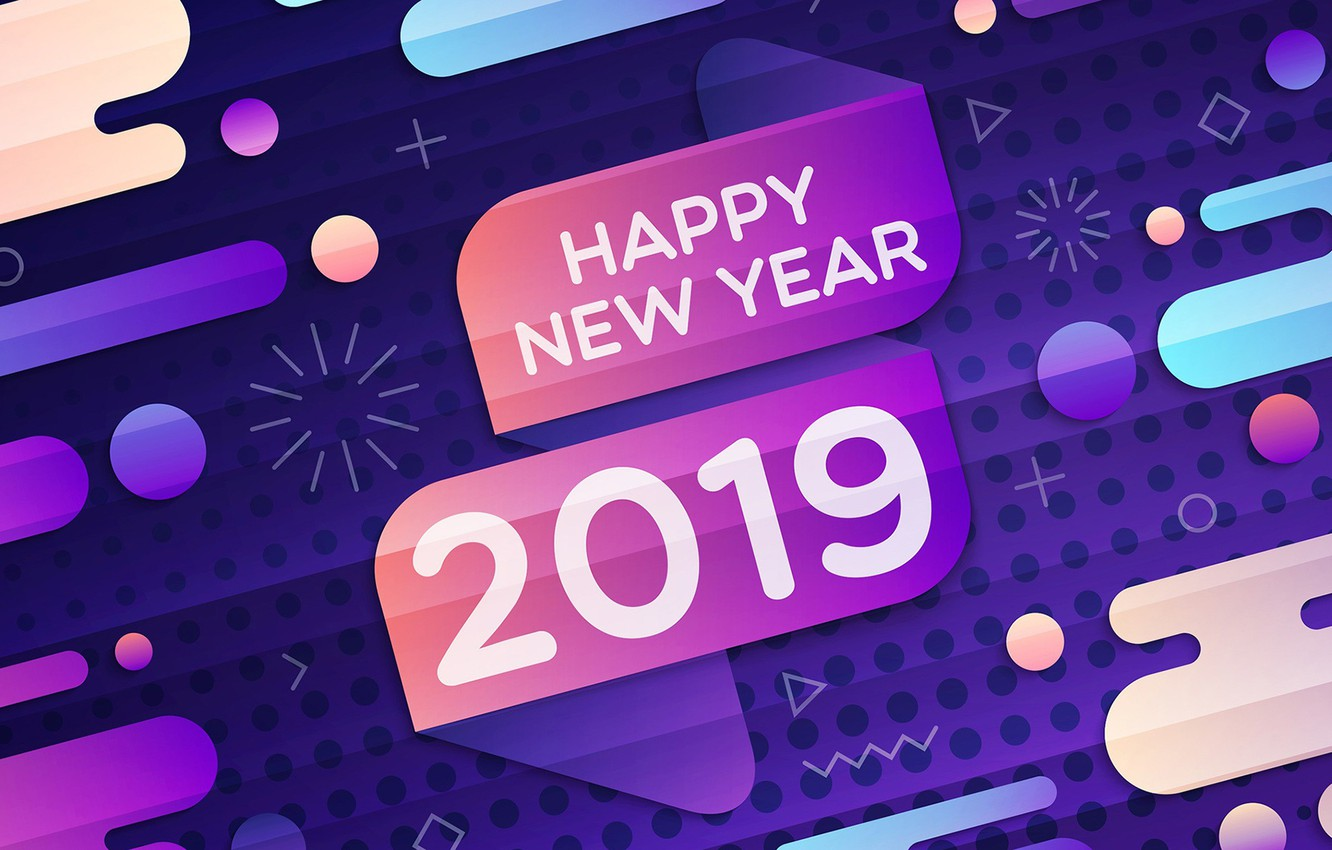 Photo wallpaper background, New year, 2019