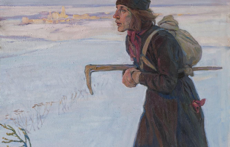 Photo wallpaper winter, 1919, Aleksei Mikhailovich Korin, THE MONK