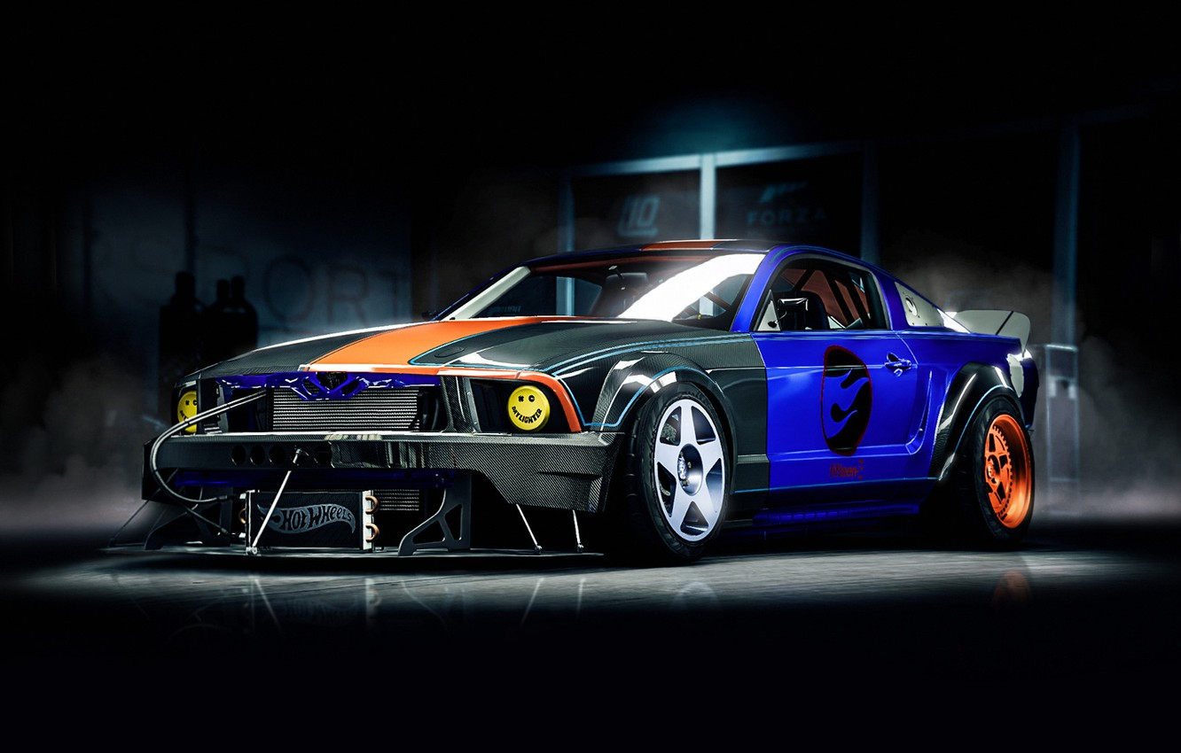 Photo wallpaper mustang ford auto machine ford mustang art transport