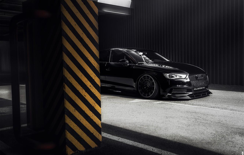 Photo wallpaper Black, Machine, Audi A3, Car, Auto, Black, Quattro, Transport & Vehicles, Alexander Nisman, by Alexander …