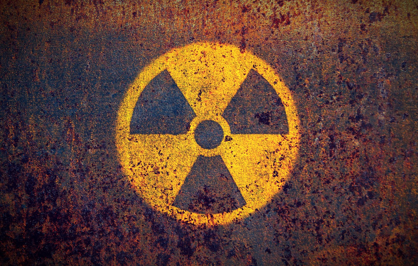 Photo wallpaper symbol, nuclear, rust