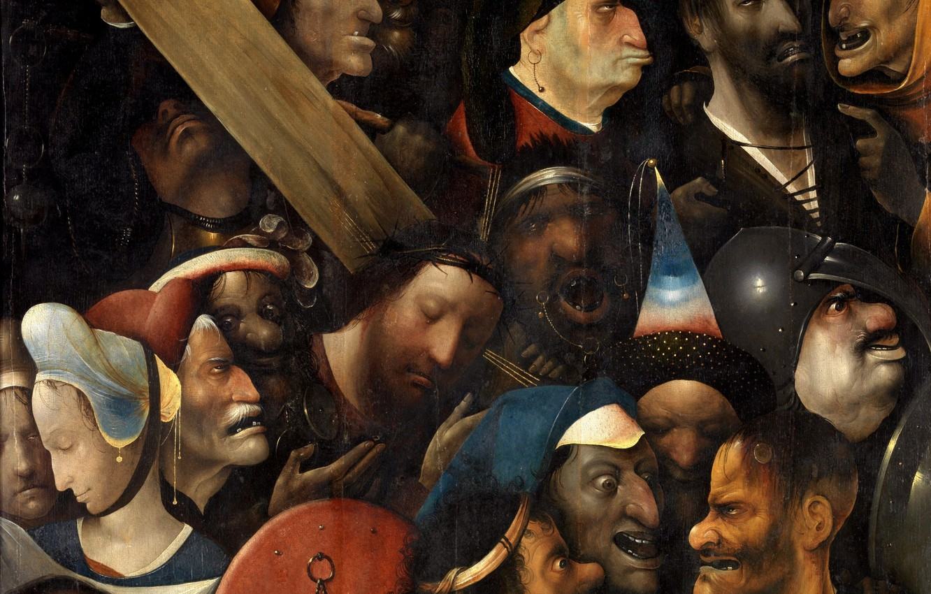Photo wallpaper Hieronymus Bosch, The large carrying of the cross, Northern Renaissance