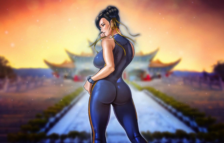 Wallpaper Girl Art Art Figure Street Fighter Chun Li