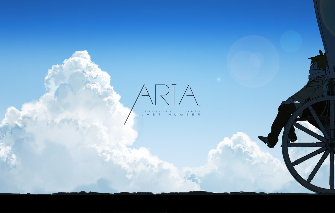 Wallpaper Girl Sky Anime Clouds Mood Aria Wagon Wheel