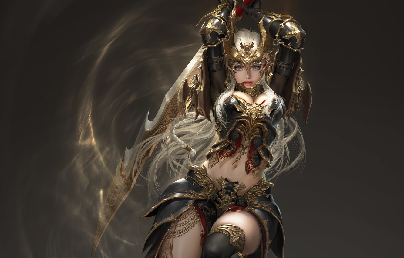 Wallpaper Girl Weapons Background League Of Angels Images
