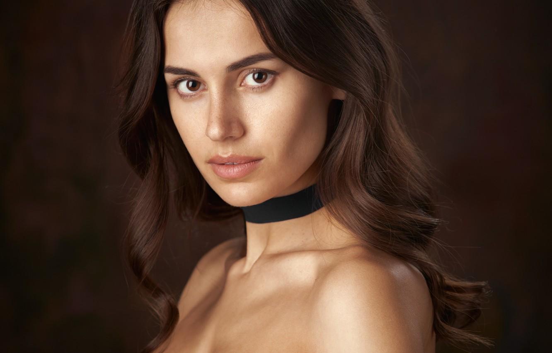 Photo wallpaper girl, Diana, retouching, classic portrait, Alexander Vinogradov