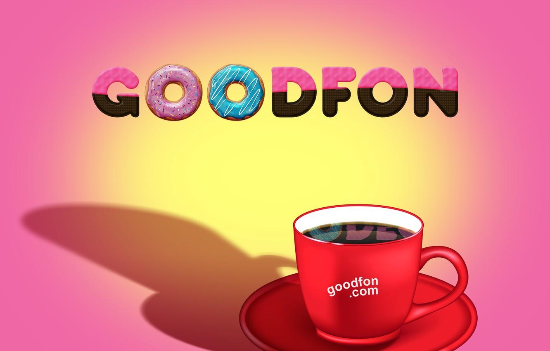 Photo wallpaper goodfon, Chocolate, coffee, donuts
