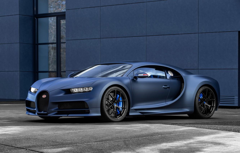 Photo wallpaper machine, lights, Bugatti, optics, drives, Sport, hypercar, Chiron, 110 ans Bugatti