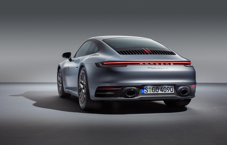 Photo wallpaper 911, Porsche, rear view, Carrera, Carrera 4S, 2019