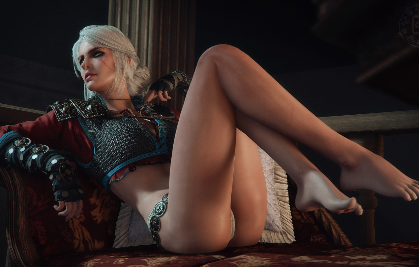 Photo wallpaper erotic, ass, girl, feet, body, witcher, The Witcher 3, Wild Hunt, ciri