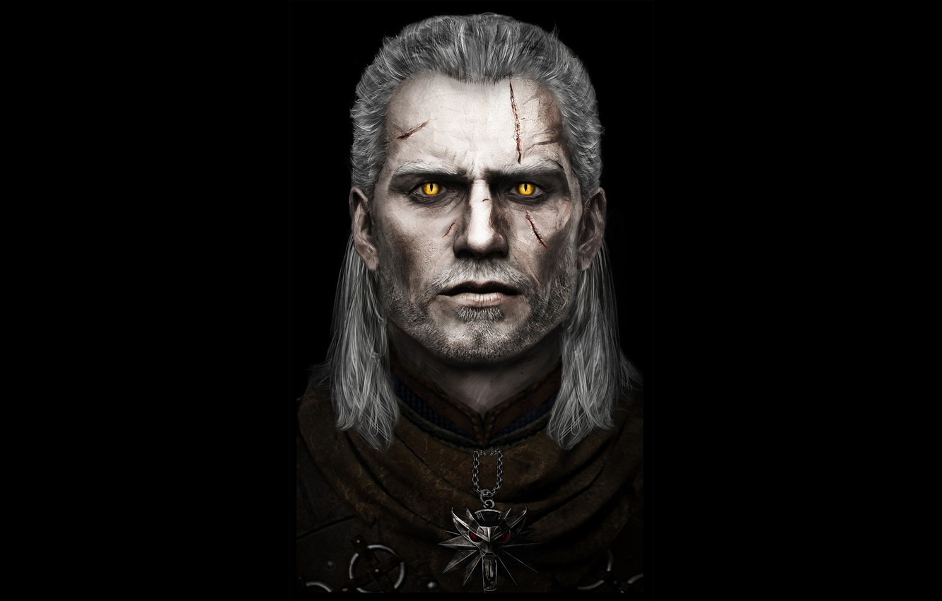 Wallpaper Eyes Look The Witcher The Witcher Scars