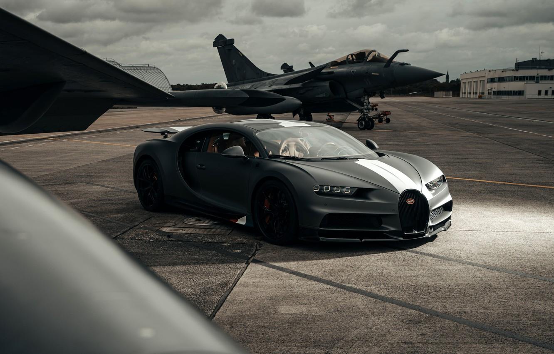 Photo wallpaper the plane, Bugatti, the Slayer, Sport, The, Chiron, 2021, Légendes Du Ciel