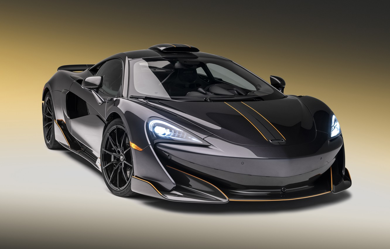 Photo wallpaper McLaren, supercar, 2018, MSO, 600LT Stealth Grey