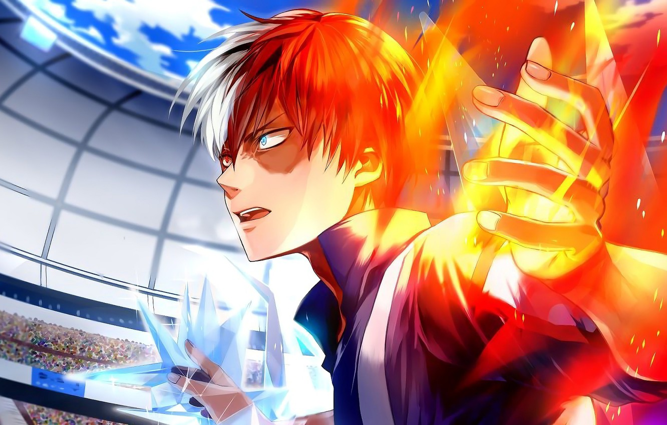 Wallpaper Fire Hero Guy Arena Boku No Hero Academy