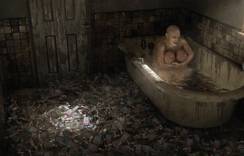 Photo wallpaper bathroom, SANITIZE, антисептик, работа TJ Foo