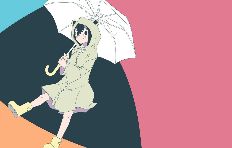 Photo wallpaper girl, background, umbrella, My Hero Academia, Boku No Hero Academy, My heroic academia, The Tsui …