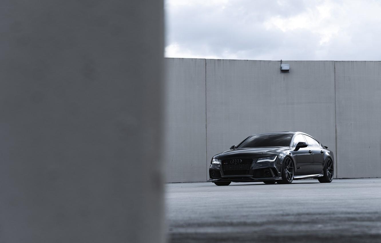 Photo wallpaper Audi, Black, Quattro, Sportback, RS7, 4.0TT
