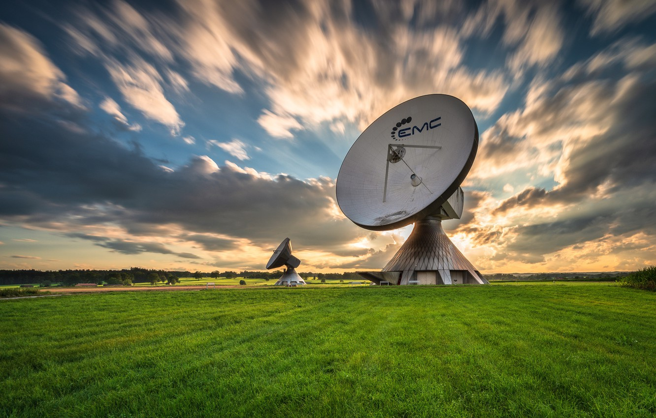 Photo wallpaper field, the sky, antenna