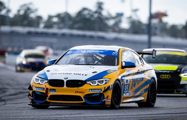 Photo wallpaper asphalt, coupe, BMW, track, M4 GT4