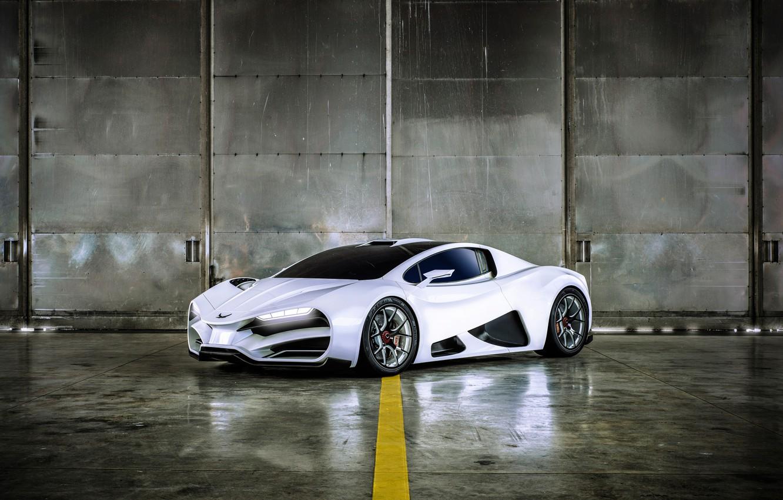 Photo wallpaper supercar, 2018, hypercar, Milan, Milan automobile GMBH, Milan Red