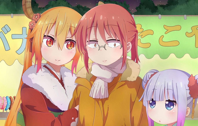 Photo wallpaper girls, girlfriend, Kobayashi San Chi no Maid Dragon, The dragon-maid Kobayashi