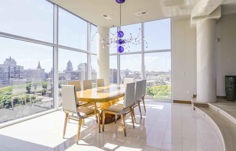 Wallpaper interior, penthouse, downtown