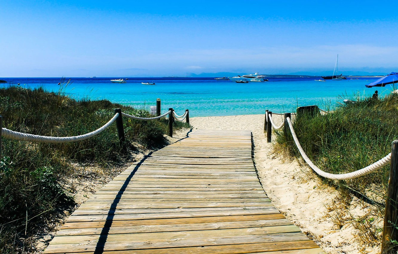 Wallpaper Sea Beach Pass Formentera Images For Desktop Section