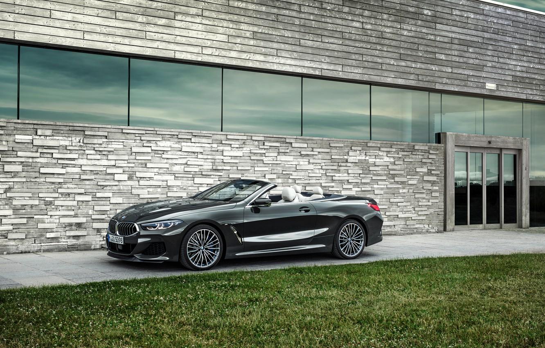 Photo wallpaper lawn, BMW, convertible, xDrive, G14, 8-series, 2019, Eight, M850i Convertible