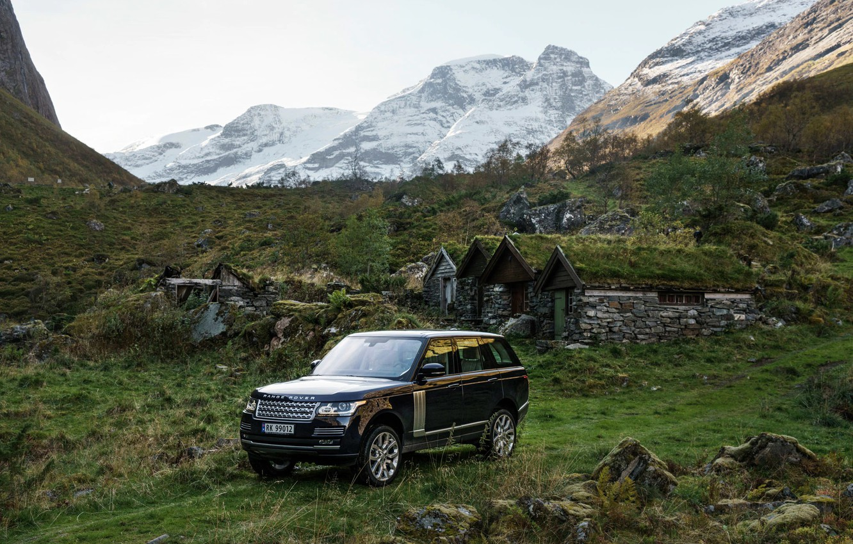 Photo wallpaper mountains, Range Rover