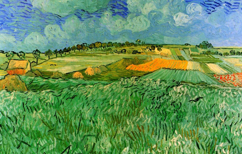 Photo wallpaper field, Vincent van Gogh, Auvers, Plain Near