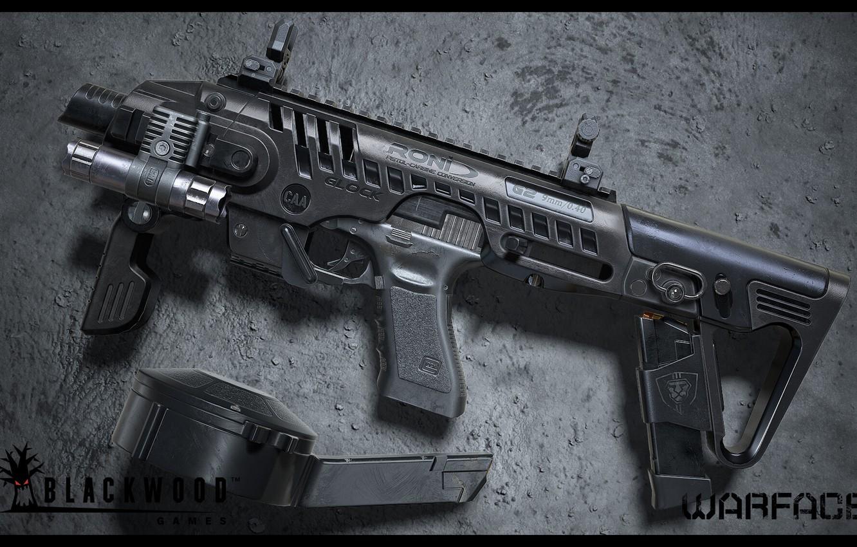 Photo wallpaper rendering, weapons, gun, weapon, render, custom, Glock, glock, Warface, assault rifle, assault Rifle, Varfeys, Blackwood …