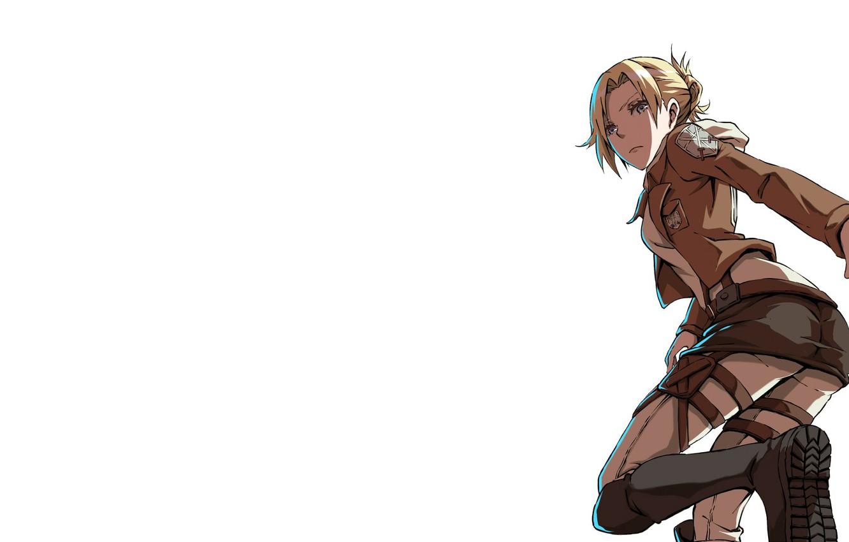 Photo wallpaper anime, anime, sasha, attack of the titans, Mikasa, attack on titan, mikasa, Sasha, aot, энни, …