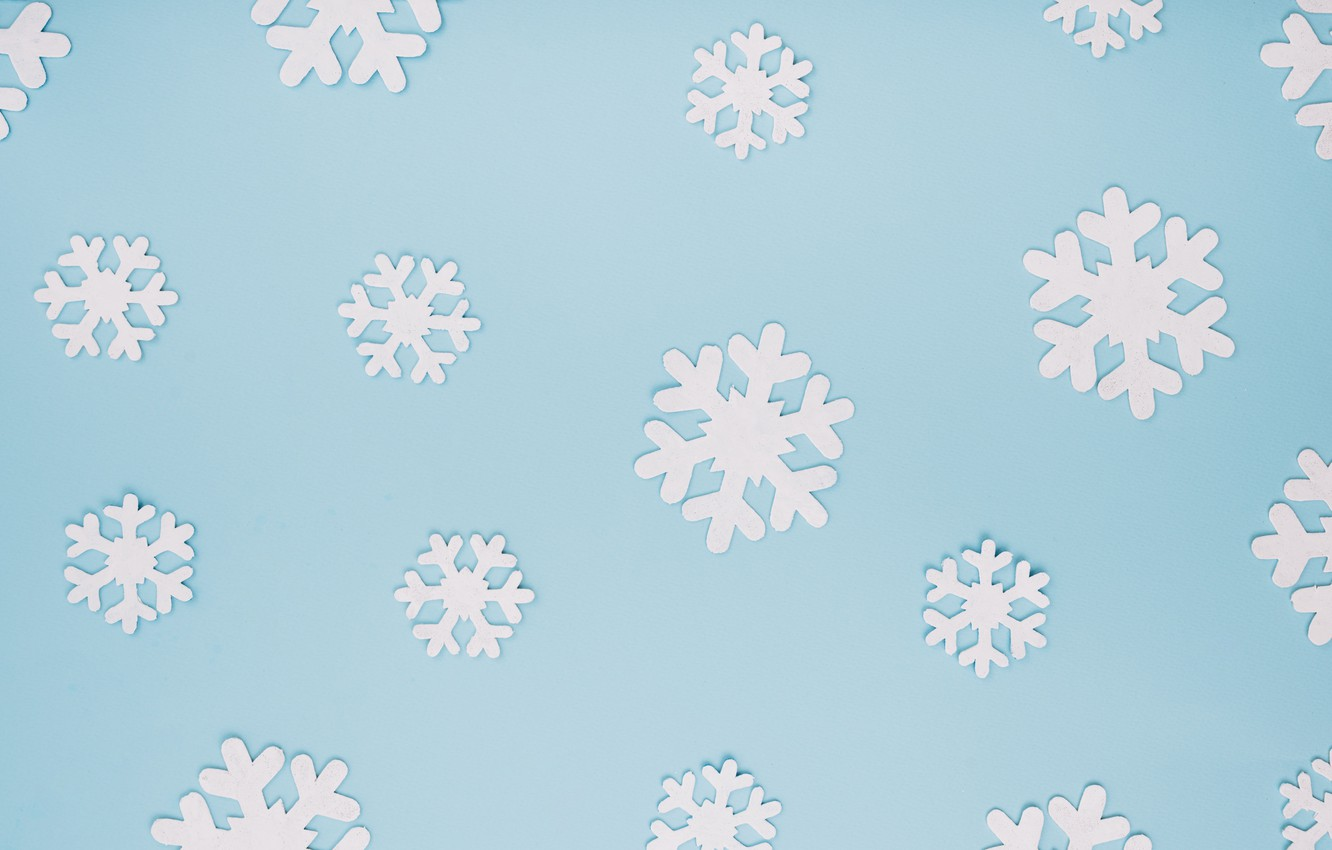 Photo wallpaper winter, snowflakes, background, blue, Christmas, blue, winter, background, snowflakes