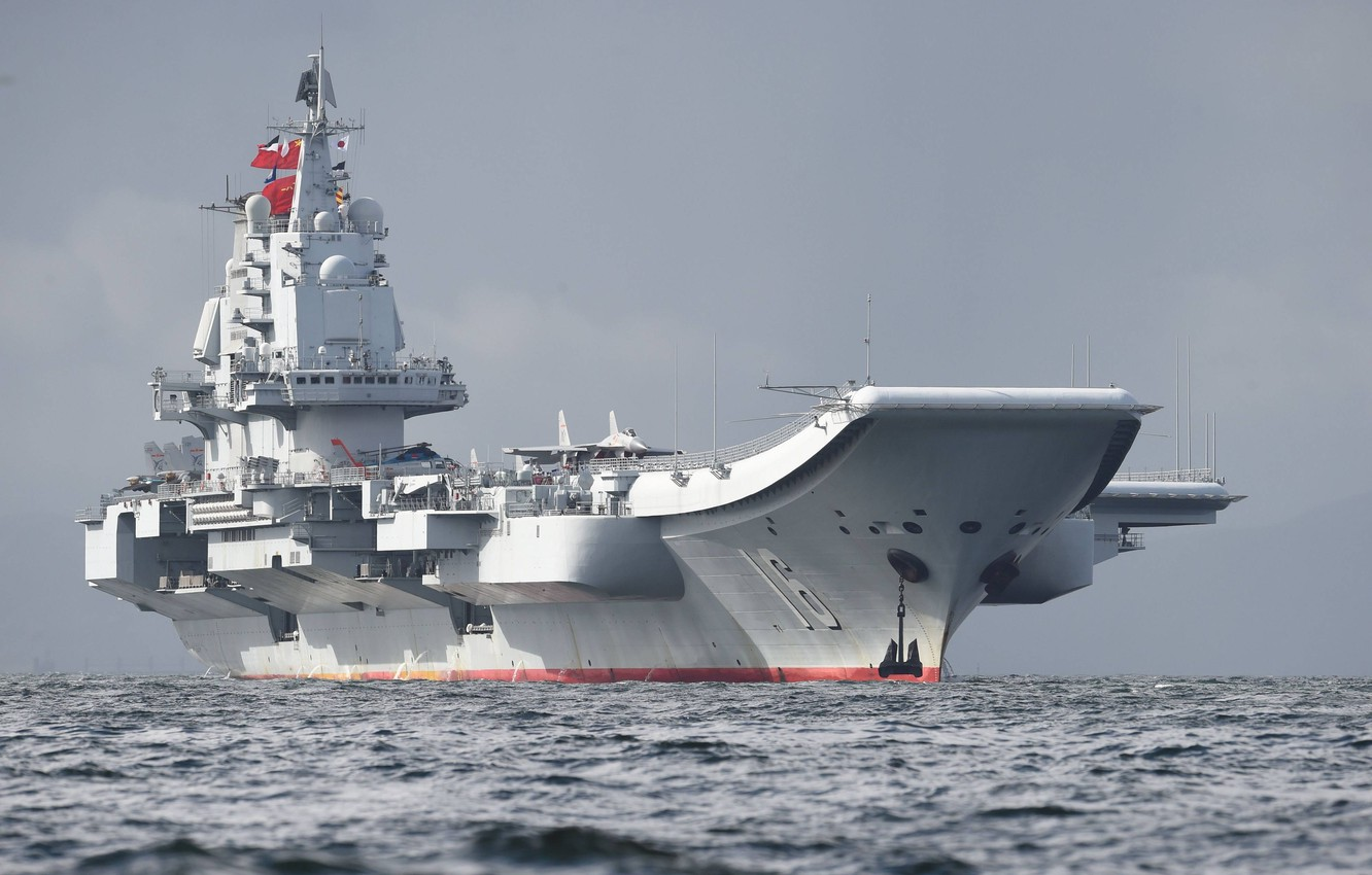 Photo wallpaper Sea, Wave, Fighter, The carrier, Anchor, THE CHINESE NAVY, Shenyang J-15, Liaoning (16)